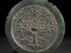唐•菩提树纹铜镜价格