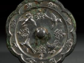 唐•葵口花鸟铜镜价格