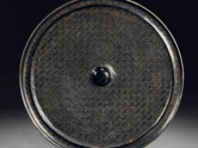 明黑漆雕万字纹铜镜价格