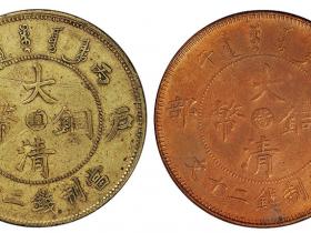 """大清铜币中心""""滇""""二十文价格"""