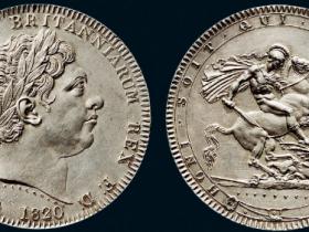 1820年英国马剑银币价格