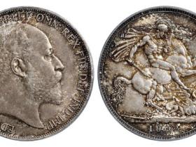 1902年英国1克朗马剑银币价格