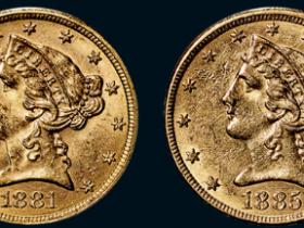 美国鹰洋五元金币一组二枚
