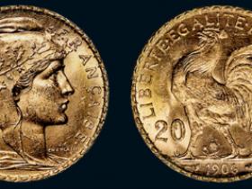 1906年法国雄鸡20法郎金币
