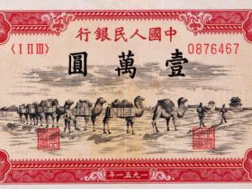 骆驼队一万元真品图