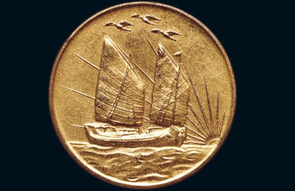 中央造币厂开铸三十周年纪念镀金铜币价格3520元