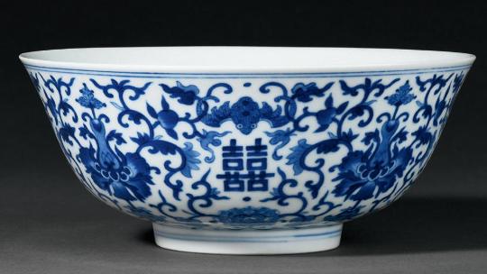 清道光青花缠枝西番莲福寿双喜纹大碗成交价(人民币):32,200